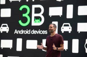 Vicepresidente de gestión de productos de Android y Google Play durante la conferencia de desarrolladores I/O de Google en Mountain View, California.