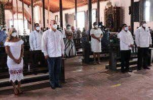 Los actos conmemorativos se efectuaron en la Iglesia de Natá de los Caballeros. Foto: Cortesía/Gobernación de Coclé