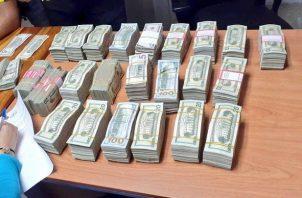 Más de seis millones de dólares han sido incautados por las autoridades. Foto: Cortesía Minseg.