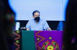 El presidente Laurentino Cortizo realizó ayer, viernes, una gira por Darién. Foto: Cortesía Presidencia