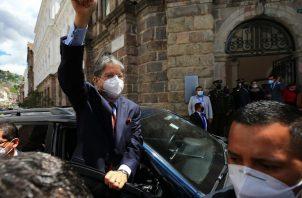 Toma de posesión del nuevo presidente de Ecuador, Guillermo Lasso. Foto: EFE