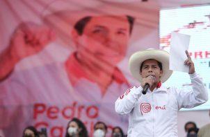 El candidato de Perú Libre, Pedro Castillo.