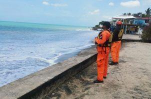 Sinaproc mantiene personal de vigilancia en las playas.