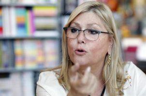 La directora del la Feria Internacional del Libro de Panamá y presidenta de la Cámara Panameña del Libro, Orit Btesh.