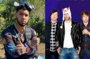 Anuel AA y Maroon 5. Fotos: Instagram
