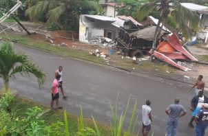 El accidente dejó sin luz eléctrica a gran parte de la comunidad costeña. Foto: Diómedes Sánchez