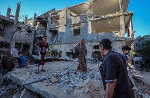 Emiten alerta por el impacto psicosocial de los conflictos que se repiten para la gente de Gaza. Foto: EFE