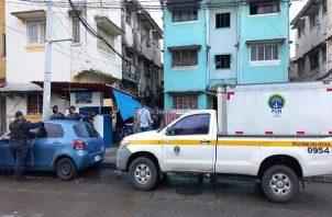 La Policía Nacional ejecuta una serie de operativos para dar con los implicados de este asesinato. Foto: Diomedes Sánchez