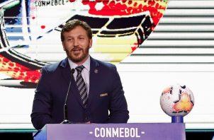 """La Conmebol, que dirige Alejandro Domínguez, indicó en su cuenta de Twitter que las """"fechas e inicio del torneo están confirmadas"""". Foto: EFE"""