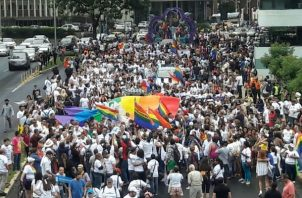 Marcha realizada en los últimos años (antes de la pandemia). Foto: Archivo