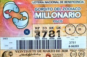 El pago del Gordito del Zodiaco corresponde al sorteo 351, del viernes 30 de abril de 2021.