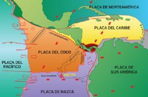 Panamá está rodeado de distintas placas. Foto: Cortesía Ovsicori