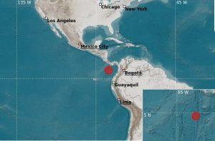 Sismo sacude el sur de Panamá. Foto: Cortesía IGC