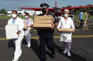 Panamá inmuniza a su población con vacunas de Pfizer y AstraZeneca. Foto: Cortesía Minsa