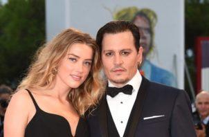 Amber Heard y Johnny Depp. Foto: Archivo