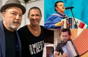 Rubén Blades, Carlos Vives, Osvaldo Ayala y Sammy Sandra. Fotos: Twitter / Instagram