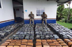 El Senan logró la incautación de las sustancias ilícitas en conjunto con la Fiscalía de Drogas de Chiriquí. Foto: Cortesía Senan
