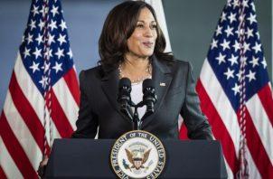 Vicepresidenta de EE.UU., Kamala Harris. Foto: EFE