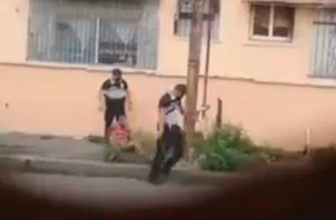 Captura del video que circula en redes sociales.