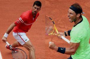 Djokovic no pierde el tiempo en su trayecto a octavos, a Rafael Nadal le costó un poco más. Foto: EFE