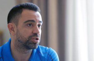 Xavi Hernández, excapitán del Barcelona y actual entrenador del Al Sadd catarí. Foto:EFE