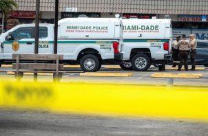 Vista de la escena de un tiroteo en Miami Dade, el pasado 30 de mayo de 2021. EFE