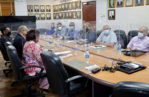 Reunión entre directivos de la CSS y dirigentes de organizaciones del Conato. Foto: Cortesía