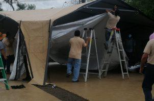 El hospital de campaña tendrá capacidad para 40 camas. Foto: José Vásquez