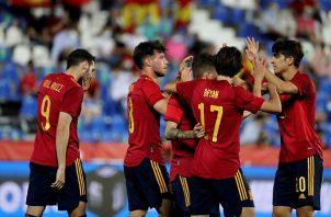 Guillamón, Díaz, Miranda y Puado fueron los que le dieron la victoria a la selección española (4-0). Foto: EFE