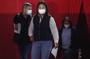 """Keiko Fujimori denunció un """"fraude sistemático"""" en el balotaje de las elecciones presidenciales de Perú. EFE"""
