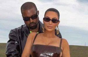 Kanye West y Kim Kardashian. Foto: Archivo