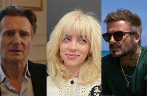 Liam Neeson, Billie Eilish y David Beckham. Foto: Instagram