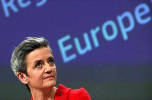 La vicepresidenta de la CE y responsable de Competencia, Margrethe Vestager. Foto: EFE