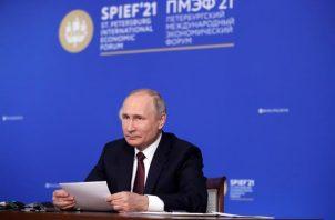El presidente ruso, Vladímir Putin. EFE