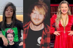 Camila Cabello, Ed Sheeran y Kelly Clarkson. Foto: Instagram