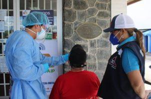 Realizan jornada de detección de casos asintomáticos en Santiago de Veraguas. Foto: Cortesía Minsa