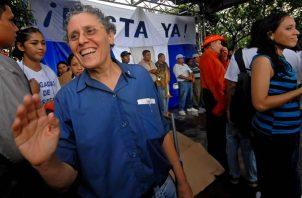 La exguerrillera y exministra sandinista Dora María Téllez. EFE