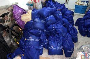 Las bolsas estaban dentro de una residencia privada. Foto: Cortesía Ministerio Público.