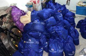 Ministerio Público investiga uso irregular de bolsas de alimentos del programa Panamá Solidario. Foto: Cortesía Ministerio Público