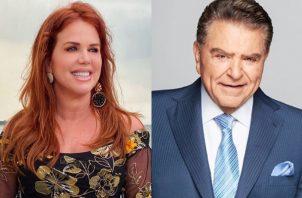 María Celeste Arrarás y Don Francisco. Fotos: Instagram