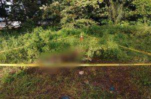 Se informó que el cuerpo de la víctima estaba en medio de un lote baldío. Foto: Mayra Madrid