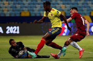 Colombia, con este resultado, llega a cuatro puntos en el torneo continental. Foto: EFE