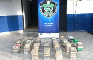 Los paquetes con la droga estaban identificados en color crema y verde. Foto: Diómedes Sánchez