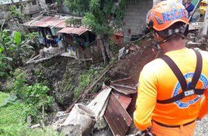 La última onda causó varios deslizamientos de tierra en el país. Foto: Cortesía Sinaproc