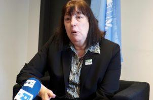 Representante especial de las Naciones Unidas para la Infancia y los Conflictos Armados, la argentina Virginia Gamba. Foto: EFE