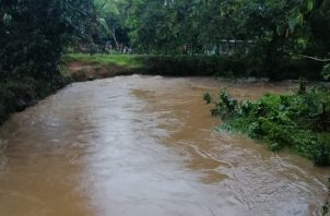 En Bugaba se registró el desborde de la Quebrada Grande. Foto: Mayra Madrid