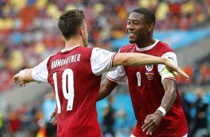 Austria queda segunda de grupo C y se medirá a Italia en octavos de final este sábado. Foto: EFE