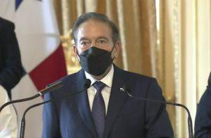 El presidente Laurentino Cortizo hizo el anuncio en cadena nacional.