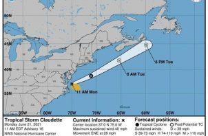 Imagen cedida por la Oficina Nacional de Administración Oceánica y Atmosférica (NOAA) a través del Centro Nacional de Huracanes (NHC). Foto: EFE