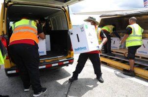 Panamá ha recibido 1,293,880 dosis de la farmacéutica Pfizer. Foto: Cortesía Aeropuerto de Tocumen